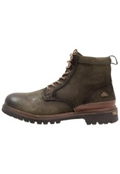 Dockers By Gerli Laceup Boots Dark Green