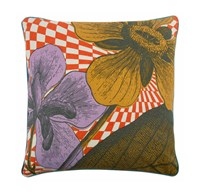 Thomas Paul Optical Botany Pillow 22 X 22 Brown