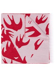 Mcq By Alexander Mcqueen Swallow Print Scarf Red