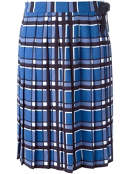 Marc By Marc Jacobs 'Toto' Plaid Print Skirt Blue