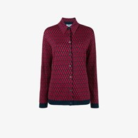 Prada Patterned Knitted Shirt Red