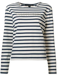 Marc Jacobs Striped Studded Jersey White