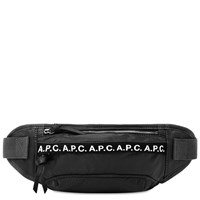 A.P.C. Lucille Tape Logo Waist Bag Black
