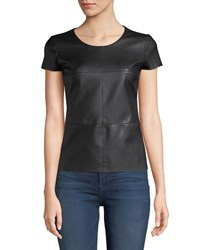 Bailey 44 Hardy Tee With Faux Leather Front Black