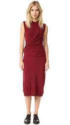 Joseph Feli Knotted Dress Oxblood
