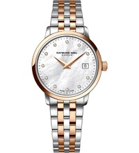 Raymond Weil 5388 Sp5 97081 Toccata Diamond And Two Toned Stainless Steel Watch Mother Of Pearl