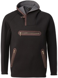 Kolor Hooded Zip Sweater Black