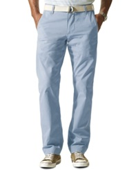 Dockers Slim Fit Alpha Khaki Flat Front Pants Dusty Blue