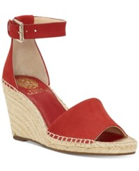 Vince Camuto Leera Espadrille Wedge Sandals Women's Shoes Red