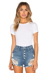 Only Hearts Club Feather Weight Rib T Shirt Bodysuit White
