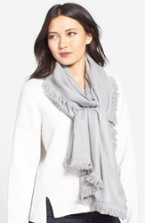 Women's La Fiorentina Wool And Cashmere Scarf Grey