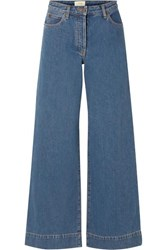 The Row Anat High Rise Wide Leg Jeans Blue