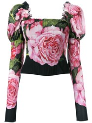 Dolce And Gabbana Floral Print Corset Top
