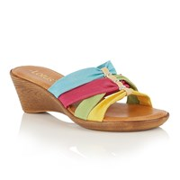 Lotus Martha Ii Wedge Mules Multi Bright