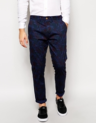Dansk Trousers With Floral Print Blue