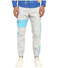 Love Moschino Color Block Jogger Grey Azure Men's Casual Pants Gray