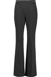 Carven Crepe Flared Pants Black