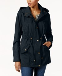 Style And Co Cotton Hooded Utility Jacket Only At Macy's Navy