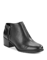 Karl Lagerfeld Natalie Leather Ankle Boots Black
