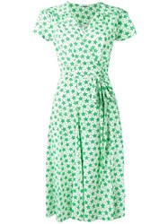 P.A.R.O.S.H. Star Print Wrap Dress Green