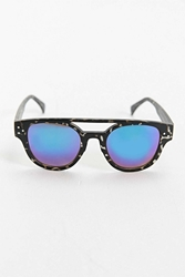 Urban Outfitters Hypertort Brow Bar Round Sunglasses Black And White