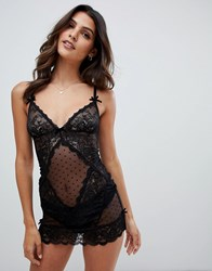 Ann Summers Sexy Lace Chemise In Black