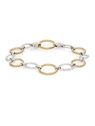 Alor Diamond 18K Yellow Gold And Stainless Steel Link Bracelet
