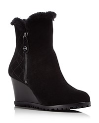 Michael Michael Kors Whitaker Shearling Lined Wedge Booties