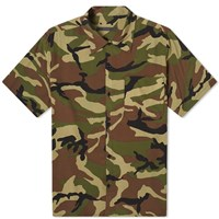 Sophnet. Camoflage Rayon Wide Box Shirt Green