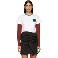 Carven White Branded Patch T Shirt