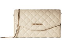 Love Moschino Quilted Evening Bag White Handbags