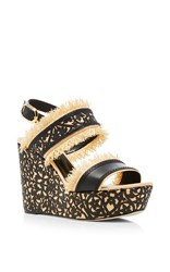 Oscar De La Renta Talitha Wedge Sandals Black