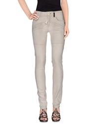 High Denim Denim Trousers Women Light Grey