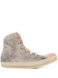 A Diciannoveventitre Bleached Effect Panelled Sneakers 60
