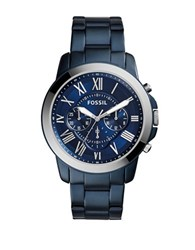 Fossil Grant Blue Tone Stainless Steel Bracelet Watch Quartz Watch