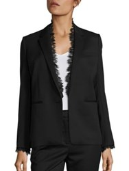 The Kooples Smoking Lace Trimmed Suit Jacket Black