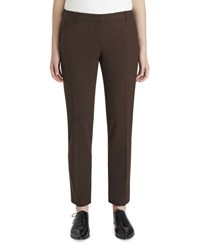 Lafayette 148 New York Bedford Wool Blend Slim Leg Pants Espresso
