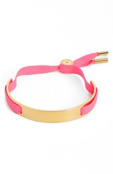 Marc By Marc Jacobs Ribbon Friendship Bracelet Knock Out Pink