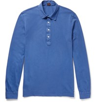 Massimo Piombo Mp Cotton Jersey Polo Shirt Blue