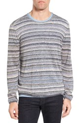 John Varvatos Men's Star Usa Multi Stripe Cotton Sweater