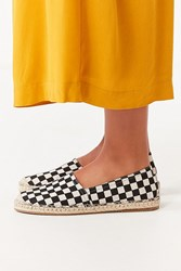 Urban Outfitters Uo Checkerboard Espadrille Flats Black White