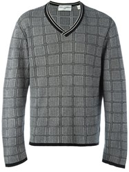 Dolce And Gabbana Vintage Houndstooth Check Jumper Black