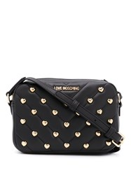 Love Moschino Heart Stud Cross Body Bag Black