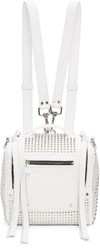 Mcq By Alexander Mcqueen White Convertible Mini Box Backpack