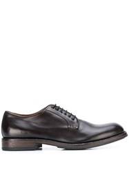 Pantanetti Lace Up Derby Shoes Brown