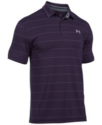 Under Armour Men's Playoff Performance Striped Golf Polo Gooseberry Stripe