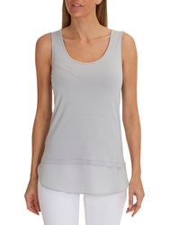 Betty Barclay Layered Vest Top Shiny Silver