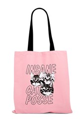 Forever 21 Cat Posse Graphic Eco Tote Pink Multi