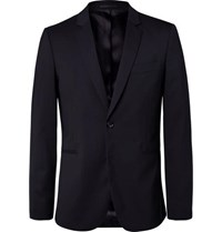 Paul Smith Ps By Navy Slim Fit Unstructured Stretch Wool Blazer Navy