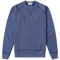 Velva Sheen Raglan Crew Sweat Blue
